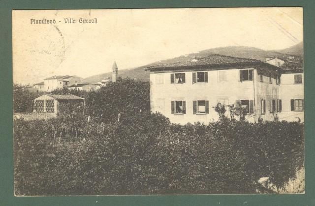 Toscana. PIANDISCO', Arezzo. Cartolina d'epoca viaggiata nel 1927.