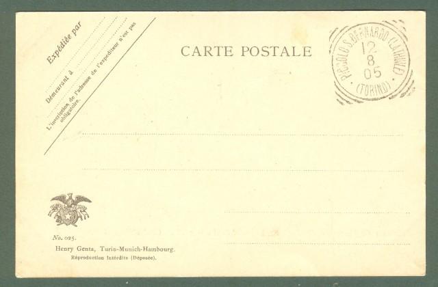 VALLE D'AOSTA. ospizio del Piccolo S. Bernardo. Cartolina d'epoca, anno 1905.