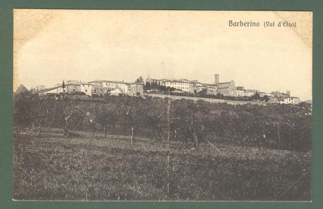 Toscana. BARBERINO VAL D'ELSA, Firenze. Panorama. Cartolina d'epoca non viaggiata, circa 1920