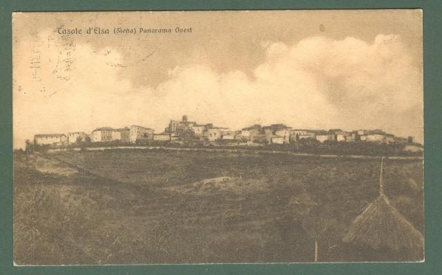 Toscana. CASOLE D'ELSA, Siena. Panorama. Cartolina d'epoca viaggiata nel 1928.