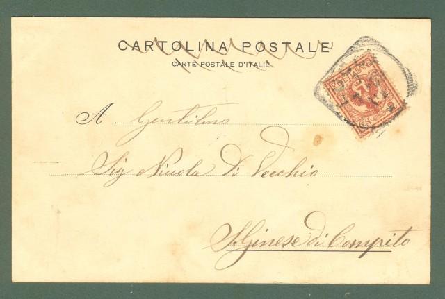 Toscana. LUCCA. Caserma S. Romano. Cartolina d'epoca viaggiata nel 1903
