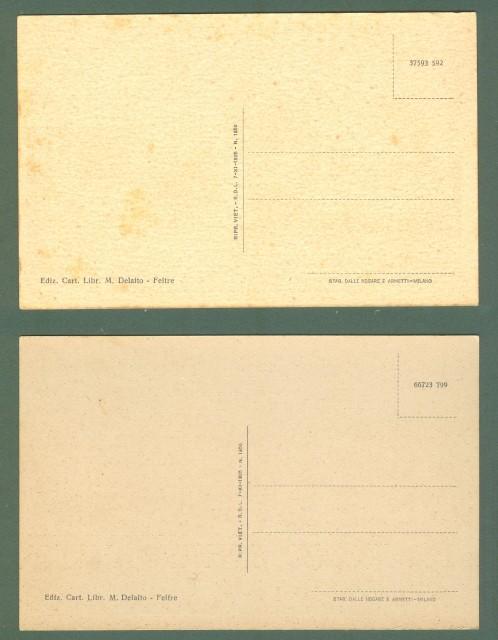 Veneto. FELTRE, Belluno. Due cartoline d'epoca non viaggiate, circa 1940