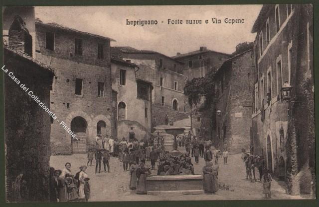 Lazio. LEPRIGNANO, Roma. Fonte Nuova e Via Capena. Cartolina d'epoca viaggiata nel 1919.