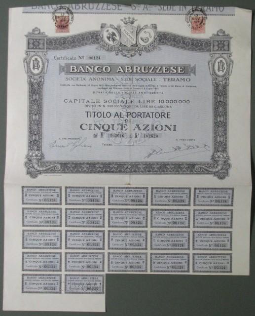 TITOLO. Banco Abruzzese.