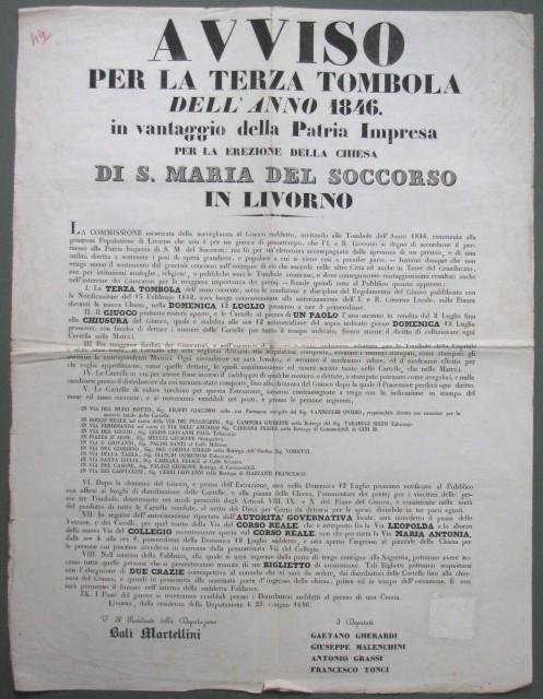 GIOCO DELLA TOMBOLA '– LIVORNO