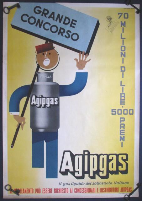 Manifesto pubblicitario AGIP GAS