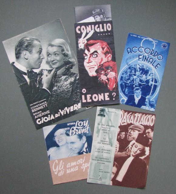 CINEMA. Anni '30. 5 depliant