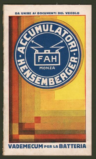 PUBBLICITA'. Accumulatori HENSERBERGER. Opuscolo del 1932.