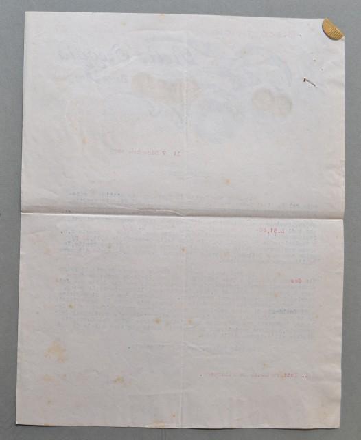 BORGO A BUGGIANO (Pistoia). Vecchia fattura, anno 1920. BISCOTTIFICIO OREGGIA