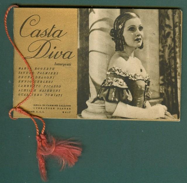 CALENDARIETTO anno 1937. LA CASTA DIVA