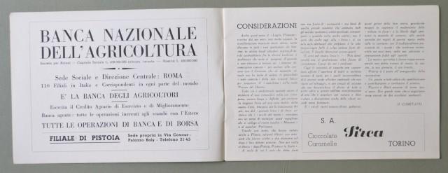 LIRICA, PISTOIA. Città di Pistoia, 3'° Stagione Lirica, anno 1950. Numero Unico illustrato di pagine 32