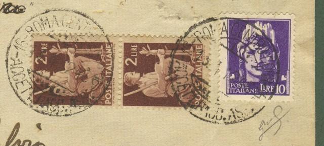 Italia Luogotenenza. Raccomandata del 13.4.1946