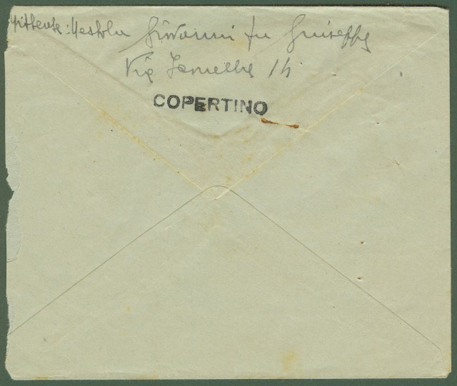 Luogotenenza. Lettera del 10.7.1946 da Copertino (Le) a Lecce).