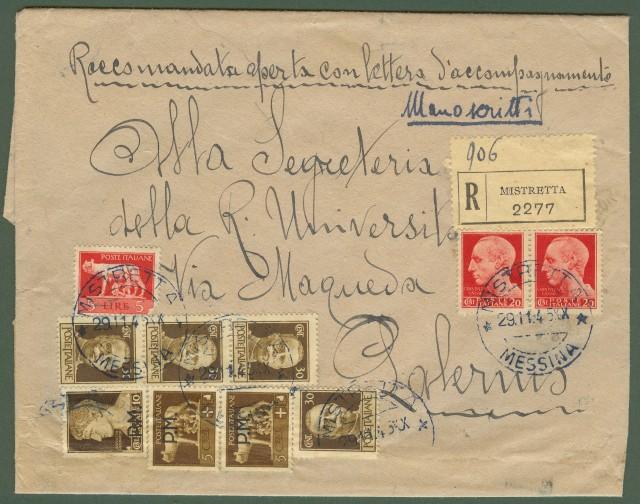 Luogotenenza. Manoscritti raccomandati del 29.11.1945.