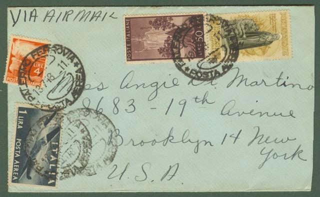 Repubblica. Aerogramma. Lettera del 18.7.1948 da Palermo per gli U.S.A.