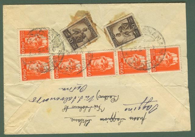 LUOGOTENENZA. Lettera del 23.2.1946 da Montagnana (Pd) a Firenze