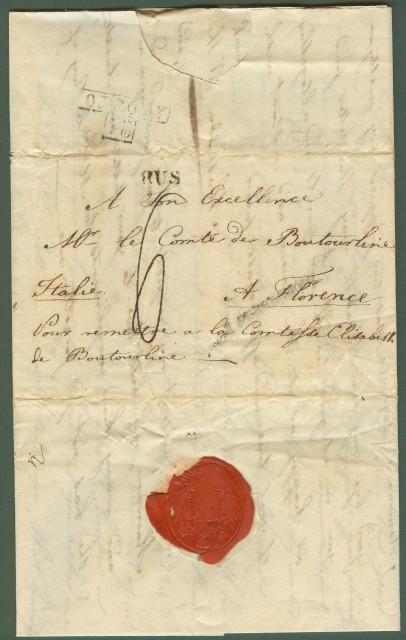 RUSSIA. Lettera del 11 luglio 1823 da San Pietroburgo per Firenze.