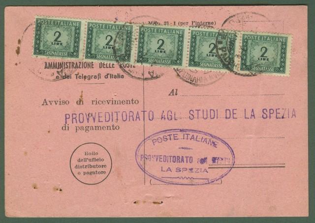 TASSA A CARICO. Avviso di ricevimento del 1.4.1948