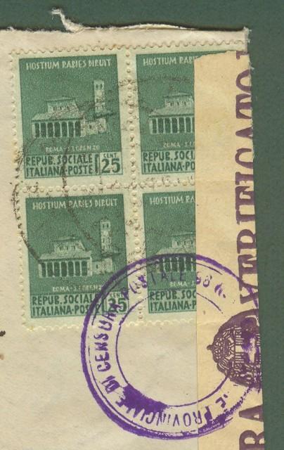 Lettera del 8.10.1944 da Malo (Vi) a Padova.