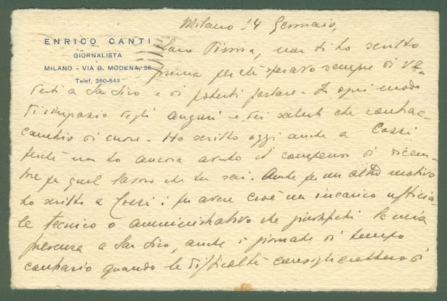 R.S.I. VALORI GEMELLI. CARTOLINA POSTALE del 18.1.1944 da Milano a Varese.