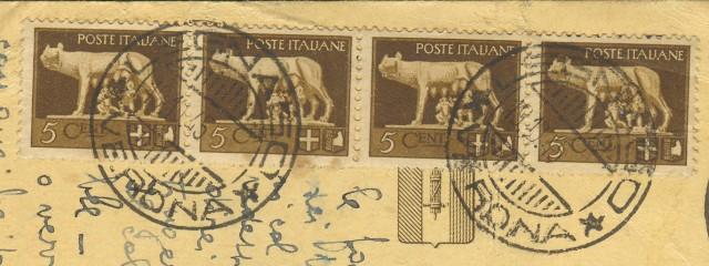 LUOGOTENENZA. CARTOLINA POSTALE da Legnago (Verona) a Verona il 18.10.1945.