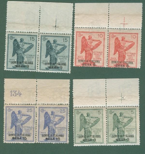 Colonie. SOMALIA ITALIANA. Anno 1922. Vittoria, serie completa.