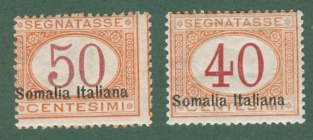 Colonie. SOMALIA ITALIANA. Segnatasse anno 1920.