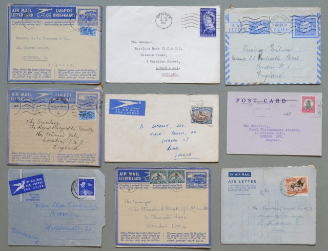 Storia postale estero. SUD AFRICA. SOUTH AFRICA. SUID AFRIKA. Nove covers anni 1945 - 1952.