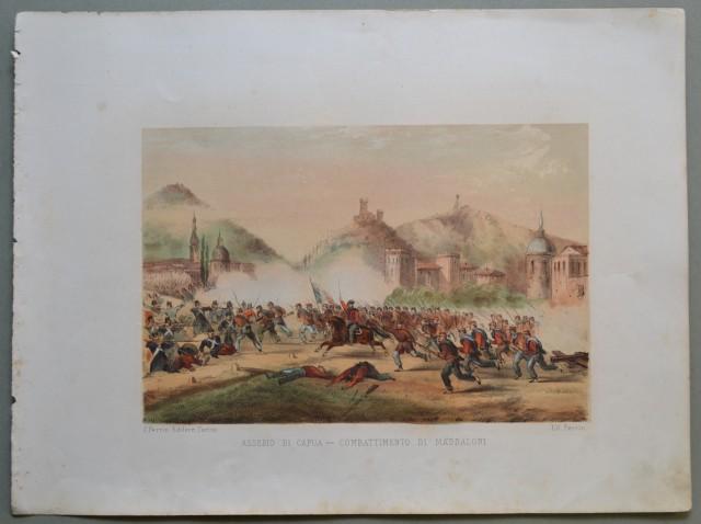 CAMPANIA - CAPUA. Assedio di Capua - Combattimento di Maddaloni.